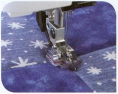 Clear Stitch-in-Ditch Foot with IDT for PFAFF machines with codes D, E, G, J with IDT