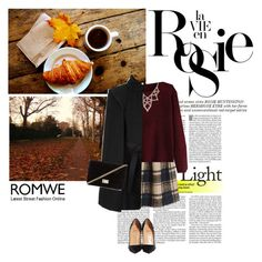 """""""Vie en Rosie"""" by romantic-romy ❤ liked on Polyvore featuring Whiteley, Chicnova Fashion, Maje, Christian Louboutin and Forever 21"""