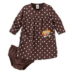 Carter's Dotted Turkey Dress: perfect for your baby girl this Thanksgiving