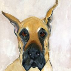 Love this face; reminds me of Ziggy, one of Lester's friends. (NoisyDogStudio by Leigh Jackson)