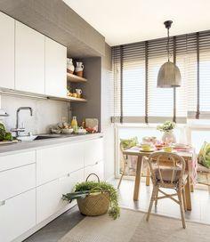 Detalle comedor en vivienda reformada y decorada íntegramente por Natalia Zubizarreta Interiorismo.