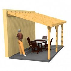 how to build a leanto Adding a leanto roof to an
