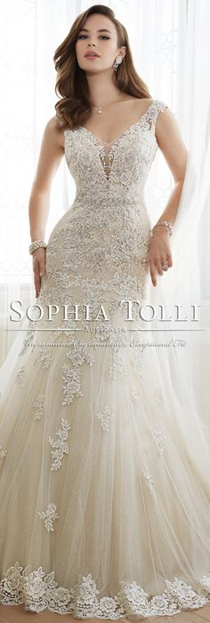 The Sophia Tolli Spring 2016 Wedding Dress Collection - Style No. Y11643 - Daria #laceweddingdress