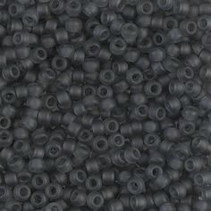 6/0 Miyuki Matte Transparent Gray Seed Beads, 16 grams - 4626 - Miyuki Color 6-152F Matte Grey