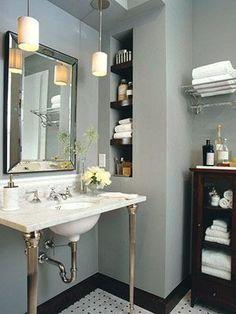 decorology: Pretty, Perfect Bathrooms via dwellingsanddecor.tumblr.com