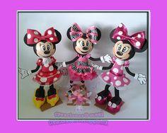 creaciones D Moni: fofuchas minnie mouse pasarela  fomi 3d