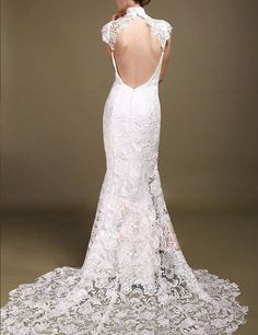 chinese vintage lace wedding bridal dress by Prettyobession, $300.00