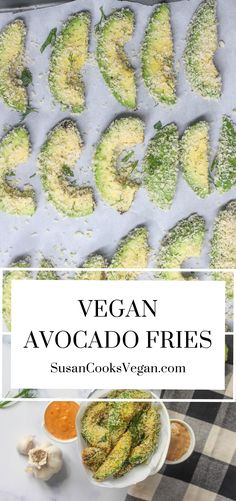 Vegan Snacks, Vegan Food, Vegan Vegetarian, Delicious Vegan Recipes, Tasty, Baked Avocado Fries, Fresh Guacamole, Vegan Cookbook, Going Vegan