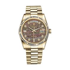 #Rolex Day-Date Gold #Watch (Black Mother-of-Pearl Jubilee Design Set with Diamonds)