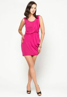 purpur drape dress