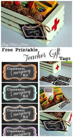Free Printable Teacher Gift Tags