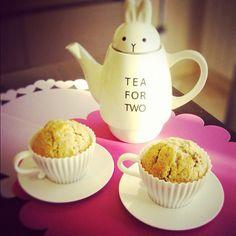 Tea for two #tarevale #cupcakes #tea #teapot