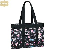 Disney It's a Small World Collection by LeSportsac - 2371 Travel Tote with Charm