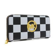 Michael Kors Checkerboard Black Wallets AT805379