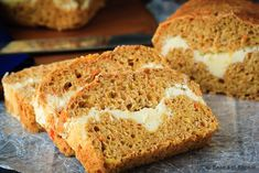 A healthier carrot bread filled with a cream cheese ribbon - healthy enough for breakfast but enough like carrot cake to feel like a treat!