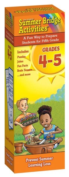 Delight your kids with rib-tickling, brain-boosting fun! These Summer Bridge Activities™ Fact Cards are a great companion to the award-winning workbook series and provide hours of learning fun. Each set includes 158 cards featuring hundreds of self-checking Grade 4–5 activities such as jokes, math, fun facts, language arts, word play, picture puzzles, and more!
