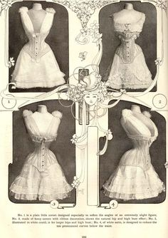 Edwardian S-bend straight front corset. The Delineator, 1905.