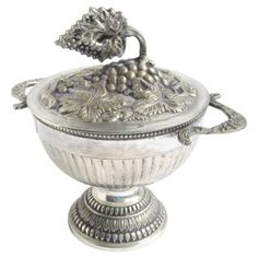 Check out this item at One Kings Lane! Silver Antique Embossed Cachepot