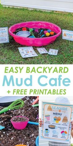 Backyard Mud Cafe: An Easy Outdoor Imaginative Play Idea for Kids kids activity outdoor play backyard summer imaginative 653092383442800782 Outdoor Activities For Toddlers, Summer Activities For Kids, Summer Kids, Indoor Activities, Outdoor Play Areas, Outdoor Play Toddler, Outdoor Fun For Kids, Outdoor Summer Games, Outdoor Toys