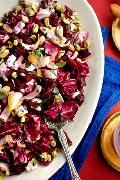 Beet and Radicchio Salad With Goat Cheese and Pistachios Recipe - NYT Cooking