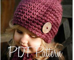 Crochet el sombrero de Rylie PATTERN-The tamaños por Thevelvetacorn