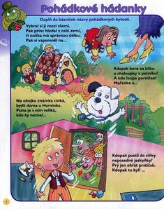 Pohádkové hádanky Diy And Crafts, Crafts For Kids, Book Activities, Animals And Pets, Montessori, Fairy Tales, Kindergarten, Homeschool, Classroom