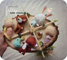 Fairy Baby Mobile - Crib Mobile - Forest Fairy - Woodland Nursery - Fox and Bird - Deer and Rabbit