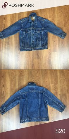 Levi's jean jacket Jean jacket in excellent condition. The buttons in the Jean jacket are snap up and is a size 5 Levi's Jackets & Coats Jean Jackets