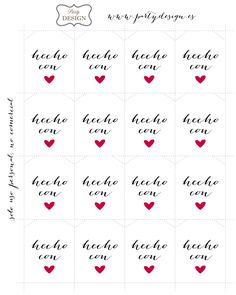 Imprimibles gratis de etiquetas hecho con amor para decorar regalos Printable Labels, Printable Planner, Free Printables, Label Paper, Illustrations, Diy Paper, Diy For Kids, Diy Gifts, Gift Tags