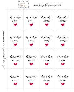 Imprimibles gratis de etiquetas hecho con amor para decorar regalos