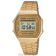 Unisex Casio Classic Leisure Alarm Chronograph Watch A168WG-9EF