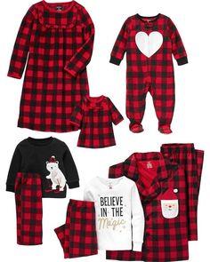 Santa Buffalo Check Coat Style Fleece PJs for Adults Matching Family Holiday Pajamas, Boys Christmas Pajamas, Xmas Pjs, Christmas Pjs, Matching Pajamas, Girls Pajamas, Matching Outfits, Women's Pajamas, Christmas Outfits