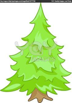 cartoon trees | Cartoon Nature Tree Fir