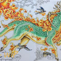 WIP2 from Kerby Rosanes's Mythomorphia, Kirin (Qilin), finished the Kirin, coloured some details, loving it so far! Using Prismacolors ✏️@kerbyrosanes #kerbyrosanes #mythomorphia #bayan_boyan #enchantedcoloring #colorindolivrostop #coloring_masterpieces #coloring_secrets #docepapelatelier #arte_e_colorir #coloring_secrets #coloring_masterpieces #arte_e_colorir #beautifulcoloring #fangcolourfulworld #ColoringMasterpiece #artecomoterapia #colorplaner #wonderfulcoloring #addictioncolour #p...