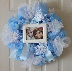 Disney Frozen Wreath, Frozen Wreath, Deco Mesh Wreath