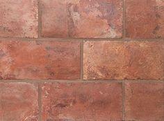 Rectangle Dark Weathered 5 3/4 X 11 3/4 X 5/8. Reclaimed European Terra Cotta from Country Floors. #terracotta