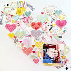 I Love You by @paigeevans for Scrapbook & Cards Today - Creative Planner 2017 #scrapbooking @pinkpaislee