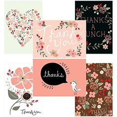 60 postcards thank you potpourri 6 different images office products amazoncom stills office