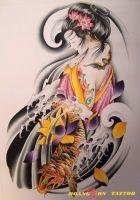 hình xăm geisha 1