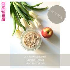 Apfel-Zimt-Porridge: Eins von vielen leckeren Rezepten aus dem Ernährungsplan zu Projekt Sexy Bauch 2016: http://www.womenshealth.de/fitness/workouts-trainingsplaene/projekt-sexy-bauch-2014.18396.htm