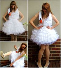Bjork swan costume tutorial