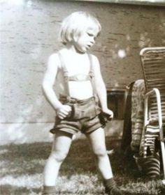 David Wagner  trug als kleiner Junge bayerische Lederhosen