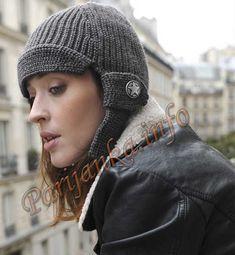 Женская шапка авиатора (ж) 34*77 Philgar № 3202