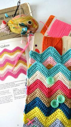 Wieke Van Keulen Zigzagdeken Haakpatroon Haken Crochet