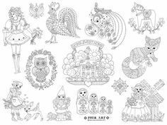Folk Art Iron on Hand Embroidery Pattern by SewLovelyEmbroidery