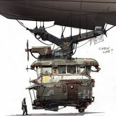 Enjoy the Art of Mortal Engines in a Concept Art Collection by Ian McQue. Ian is a concept artist/illustrator. Fantasy Landscape, Fantasy Art, Steampunk Illustration, Mortal Engines, Spaceship Art, Futuristic Art, Environment Concept, Visual Development, Tecno