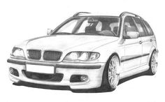 BMW drawings on Behance Cool Car Drawings, Art Drawings Sketches, Sketch Drawing, Bmw Design, Sketch Design, Pictures To Draw, Car Pictures, Lowrider Drawings, E46 Touring