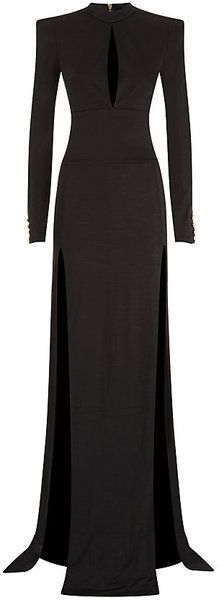 Balmain Paris available from Harrods London Keyhole Gown - Lyst