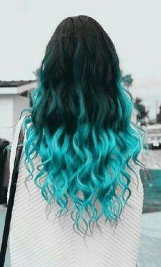63 Ideas hair dyed rainbow beautiful - All For Hair Cutes Cute Hair Colors, Pretty Hair Color, Beautiful Hair Color, Hair Dye Colors, Beautiful Beautiful, Color In Hair, Cheveux Oranges, Blue Ombre Hair, Aesthetic Hair