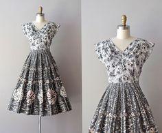 50s dress / vintage 50s dress / Moonage Dream by DearGolden
